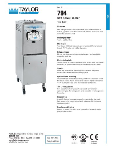 794 Soft Serve Freezer