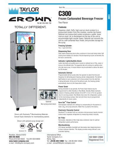 C300 Frozen Carbonated Beverage Freezer