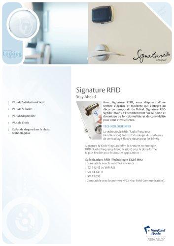 Signature RFID Product Sheet