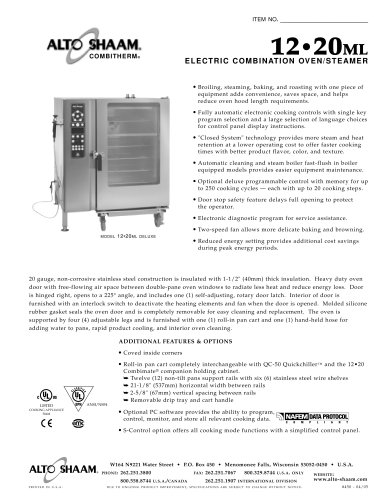 Commercial electric combi-oven