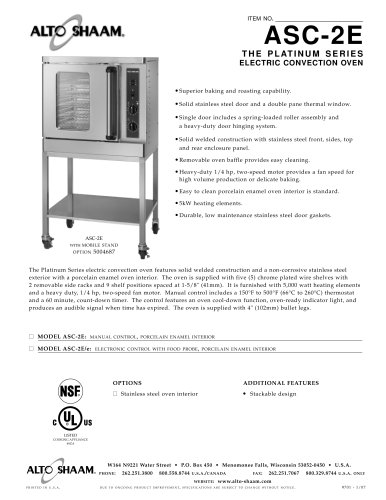 Commercial electric convection oven