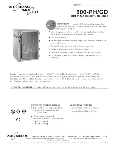 Commercial heated holding cabinet