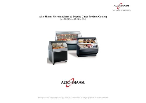 Merchandisers & Display Cases Product Catalog
