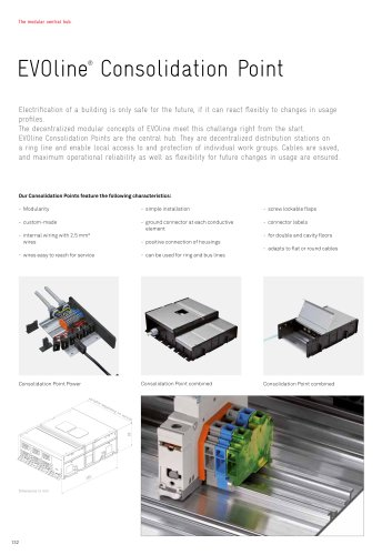 EVOline® Consolidation Point