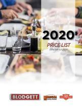 2020 PRICE LIST