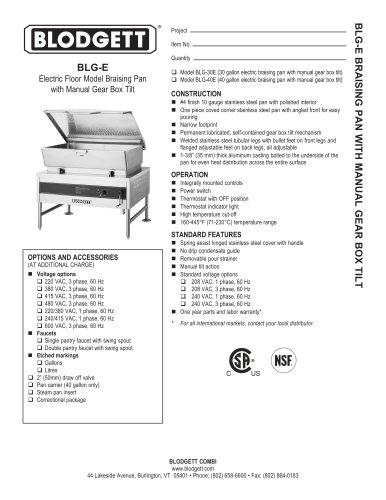 BLG-E Series