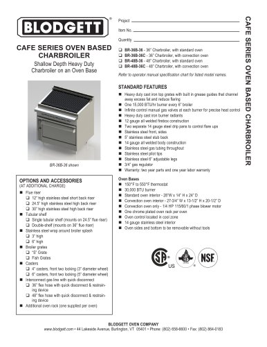 CAFE SERIES OVEN BASED CHARBROILER