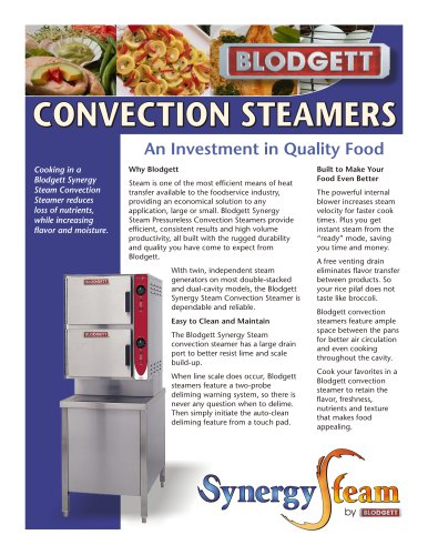 Convection steamers