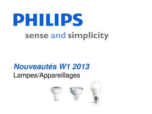 Nouveautés W1 2013 Lampes/Appareillages