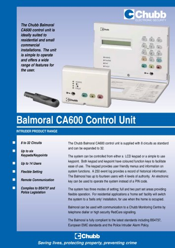 Balmoral CA600 Control Unit