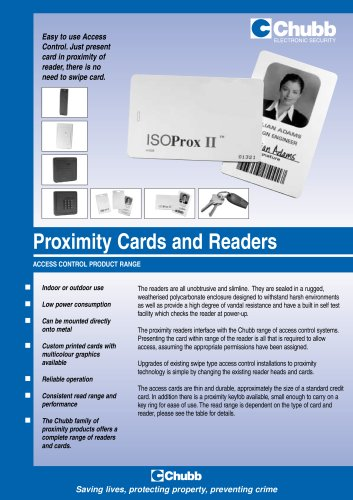 Proximity Cards and Readers