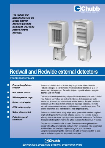 Redwall and Redwide External Detectors
