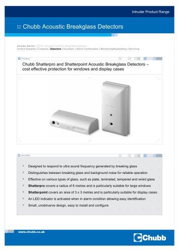 Shatterpro and Shatterpoint Acoustic Breakglass Detectors