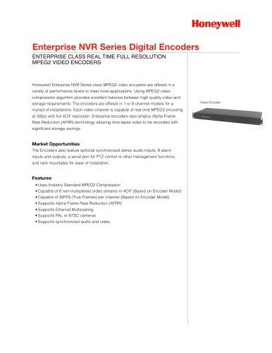 Enterprise NVR Series Digital Encoders