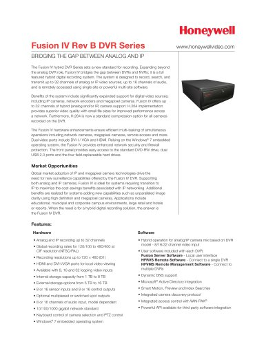 Fusion IV Rev B DVR Series Data Sheet