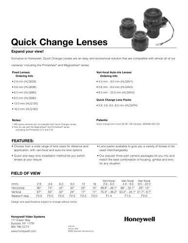 Quick Change Lenses