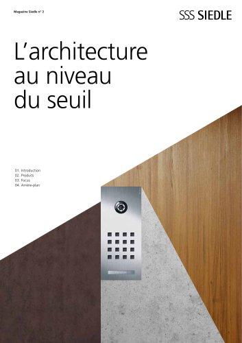 L?architecture au niveau du seuil