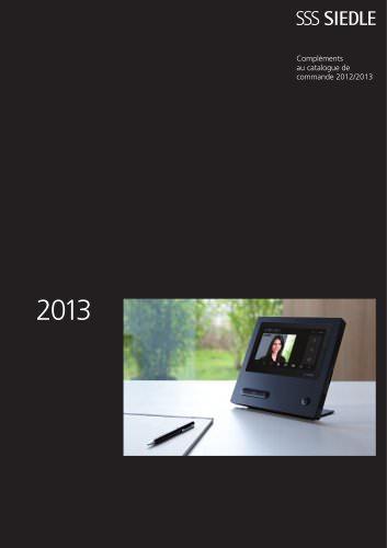 Compléments au catalogue de commande 2012/2013