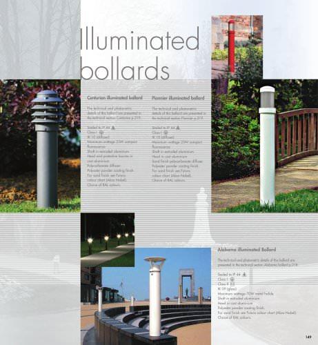 Bollards: Centurion, Pionnier, Alabama