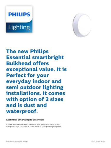 Essential Smartbright Bulkhead