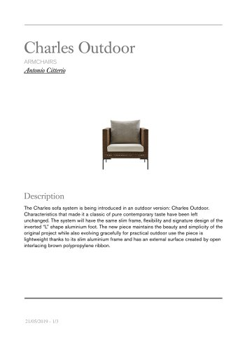 Charles Outdoor armchairs