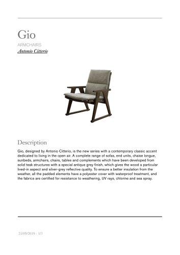 Gio armchairs