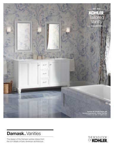 TAILORED VANITY DAMASK