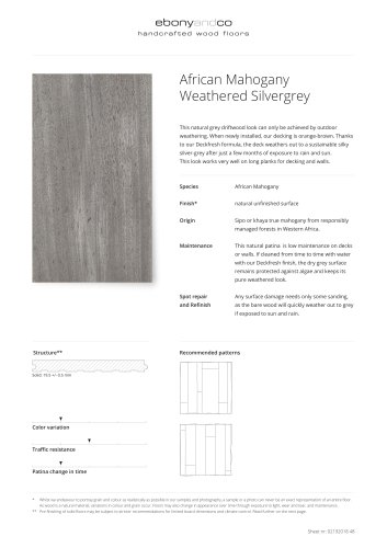 African Mahogany Weathered Silvergrey