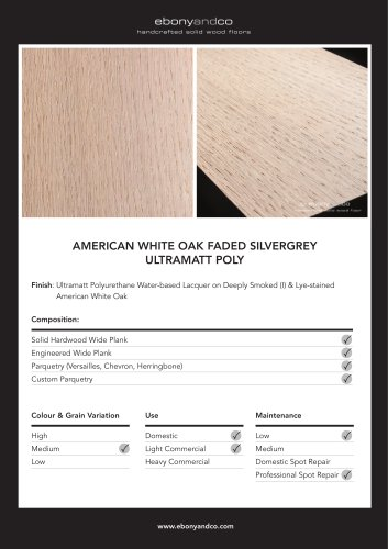 AMERICAN WHITE OAK FADED SILVERGREY ULTRAMATT  POLY