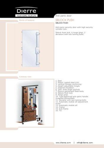 ANTI-PANIC AND FIREPROOF SECURITY DOORS SBLOCK PUSH