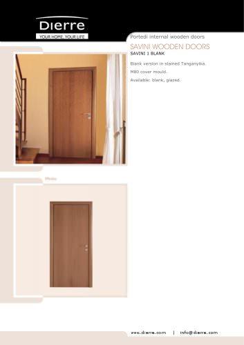 SAVINI WOODEN DOORS