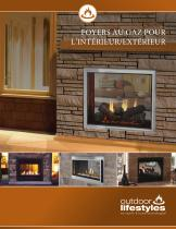 Fortress See-Through Gas Fireplace - 1