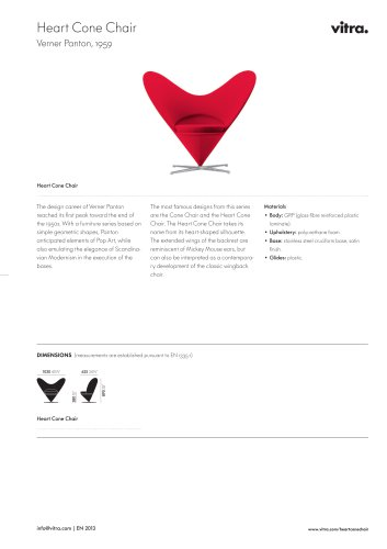 Heart Cone Chair Factsheet