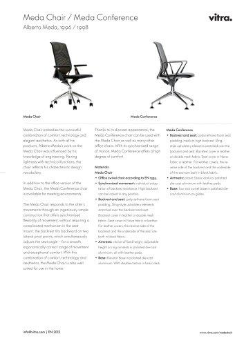 Meda Chair / Meda Conference Factsheet