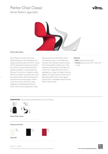 Panton Chair Classic Factsheet