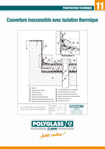 11 - Couverture inaccessible avec isolation thermique