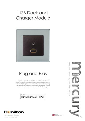 USB Dock and Charger Module Plug and Play BRITISH making