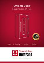 Entrance Doors Aluminum and PVC