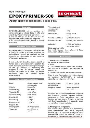 Fiche Technique EPOXYPRIMER-500