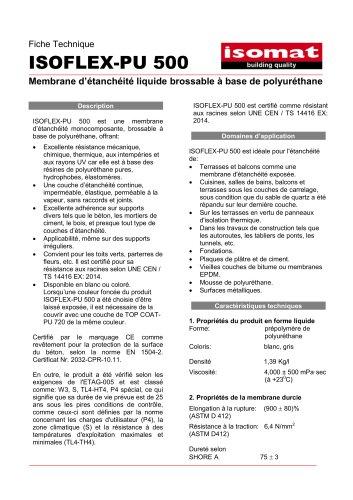 Fiche Technique ISOFLEX-PU 500