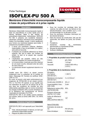 Fiche Technique ISOFLEX-PU 500A