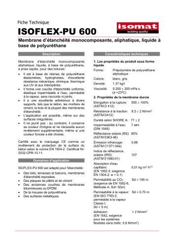 Fiche Technique ISOFLEX-PU 600