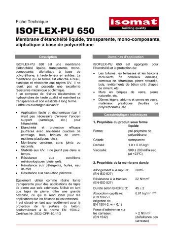 Fiche Technique ISOFLEX-PU 650