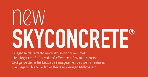 Skyconcrete - nuvolato low thickness floors