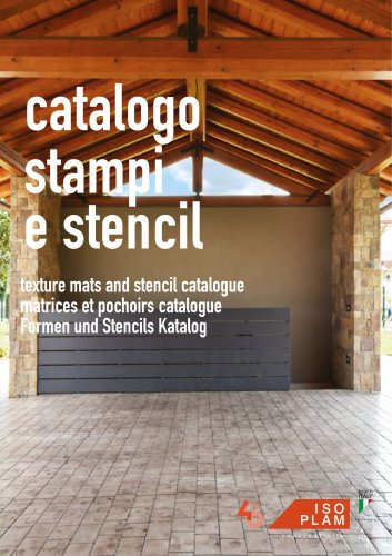 Texture mats and stencil catalogue