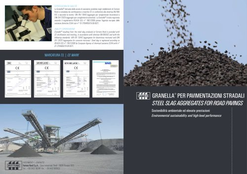 STEEL SLAG AGGREGATES FOR ROAD PAVINGS