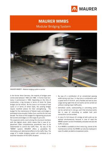 MAURER MMBS - Modular Bridging System