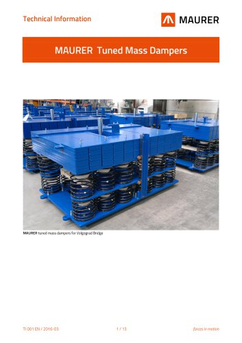 MAURER Tuned Mass and Viscous Dampers