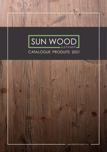 SUN WOOD - PRODUCT CATALOGUE 2021