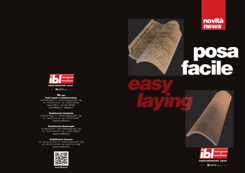 Easy laying - Coppotech and Bent tiles